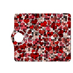 Hearts And Checks, Red Kindle Fire HDX 8.9  Flip 360 Case