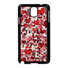 Hearts And Checks, Red Samsung Galaxy Note 3 Neo Hardshell Case (Black)
