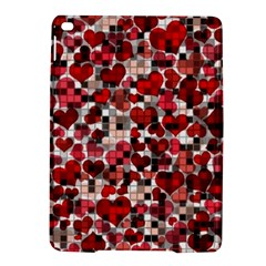 Hearts And Checks, Red Ipad Air 2 Hardshell Cases