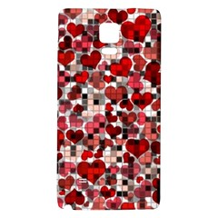 Hearts And Checks, Red Galaxy Note 4 Back Case