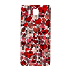 Hearts And Checks, Red Samsung Galaxy Alpha Hardshell Back Case