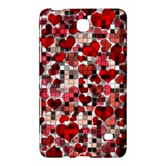 Hearts And Checks, Red Samsung Galaxy Tab 4 (7 ) Hardshell Case