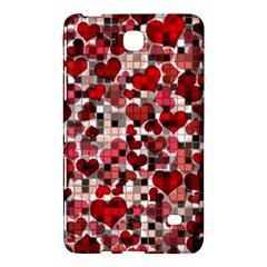 Hearts And Checks, Red Samsung Galaxy Tab 4 (8 ) Hardshell Case