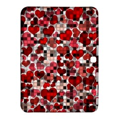 Hearts And Checks, Red Samsung Galaxy Tab 4 (10.1 ) Hardshell Case
