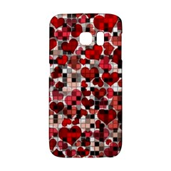 Hearts And Checks, Red Galaxy S6 Edge