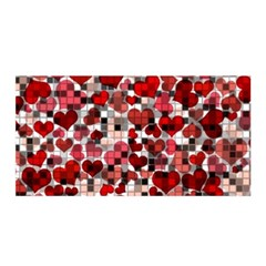 Hearts And Checks, Red Satin Wrap