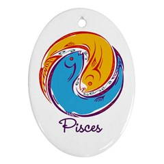 Pisces Star Sign Ornament (Oval)