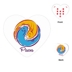 Pisces Star Sign Playing Cards (Heart)