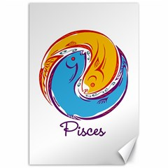 Pisces Star Sign Canvas 20  x 30