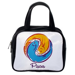 Pisces Star Sign Classic Handbags (One Side)
