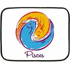 Pisces Star Sign Fleece Blanket (Mini)