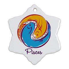 Pisces Star Sign Snowflake Ornament (2-Side)