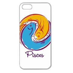 Pisces Star Sign Apple Seamless iPhone 5 Case (Clear)
