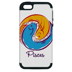 Pisces Star Sign Apple iPhone 5 Hardshell Case (PC+Silicone)