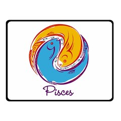 Pisces Star Sign Double Sided Fleece Blanket (Small)