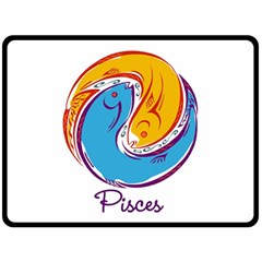Pisces Star Sign Double Sided Fleece Blanket (Large)