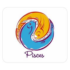 Pisces Star Sign Double Sided Flano Blanket (Small)