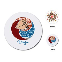 Virgo Star Sign Playing Cards (Round)