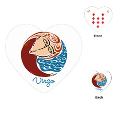 Virgo Star Sign Playing Cards (Heart)