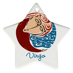 Virgo Star Sign Star Ornament (Two Sides)