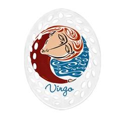 Virgo Star Sign Ornament (oval Filigree)