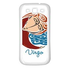 Virgo Star Sign Samsung Galaxy S3 Back Case (White)
