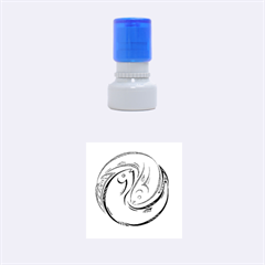 Two Fish Rubber Round Stamps (Small)