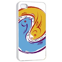 Two Fish Apple Iphone 4/4s Seamless Case (white)