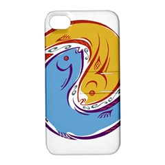 Two Fish Apple iPhone 4/4S Hardshell Case with Stand