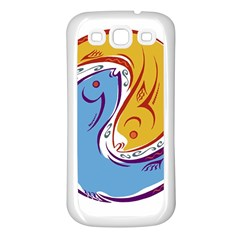 Two Fish Samsung Galaxy S3 Back Case (White)