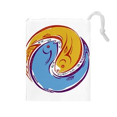 Two Fish Drawstring Pouches (Large)