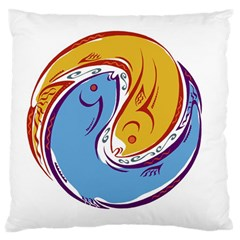 Two Fish Large Flano Cushion Cases (One Side)