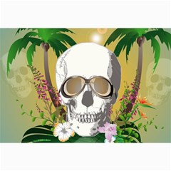 Funny Skull With Sunglasses And Palm Collage 12  x 18