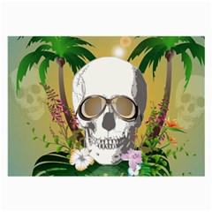 Funny Skull With Sunglasses And Palm Large Glasses Cloth
