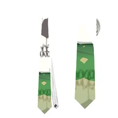 Funny Skull With Sunglasses And Palm Neckties (Two Side)