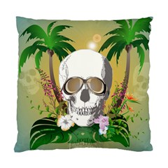 Funny Skull With Sunglasses And Palm Standard Cushion Cases (Two Sides)