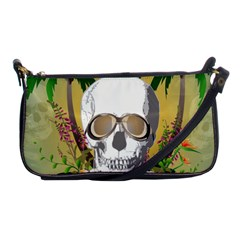 Funny Skull With Sunglasses And Palm Shoulder Clutch Bags