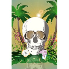 Funny Skull With Sunglasses And Palm 5.5  x 8.5  Notebooks