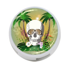 Funny Skull With Sunglasses And Palm 4-Port USB Hub (Two Sides)