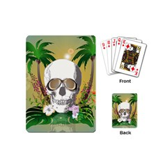 Funny Skull With Sunglasses And Palm Playing Cards (Mini)