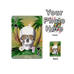 Funny Skull With Sunglasses And Palm Playing Cards 54 (Mini)