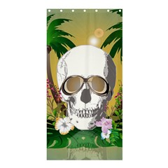 Funny Skull With Sunglasses And Palm Shower Curtain 36  x 72  (Stall)