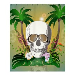Funny Skull With Sunglasses And Palm Shower Curtain 60  x 72  (Medium)