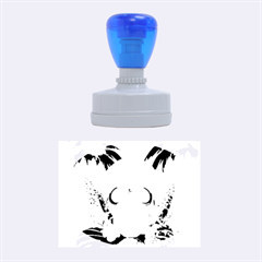 Funny Skull With Sunglasses And Palm Rubber Oval Stamps