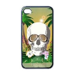 Funny Skull With Sunglasses And Palm Apple iPhone 4 Case (Black)