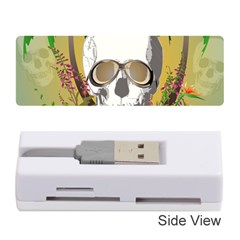 Funny Skull With Sunglasses And Palm Memory Card Reader (Stick)