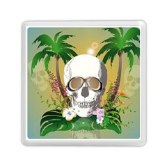 Funny Skull With Sunglasses And Palm Memory Card Reader (Square)