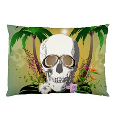 Funny Skull With Sunglasses And Palm Pillow Cases (two Sides)