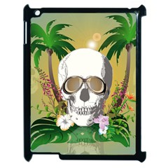 Funny Skull With Sunglasses And Palm Apple iPad 2 Case (Black)