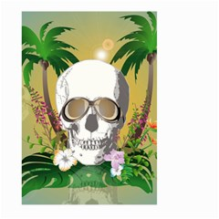 Funny Skull With Sunglasses And Palm Large Garden Flag (Two Sides)